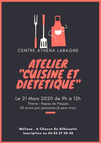 Description du contenu de l'atelier de cuisine diététique de mars 2020